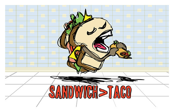 Sandwich > Taco