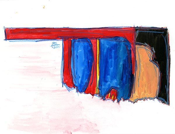 "9x12""; watercolor & colored pencils"