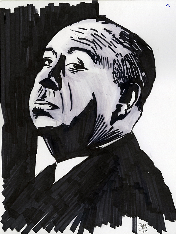 Alfred Hitchcock Sketch