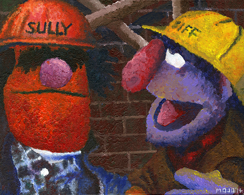 MUPPET MTUESDAY! Sully & Biff (16×20)