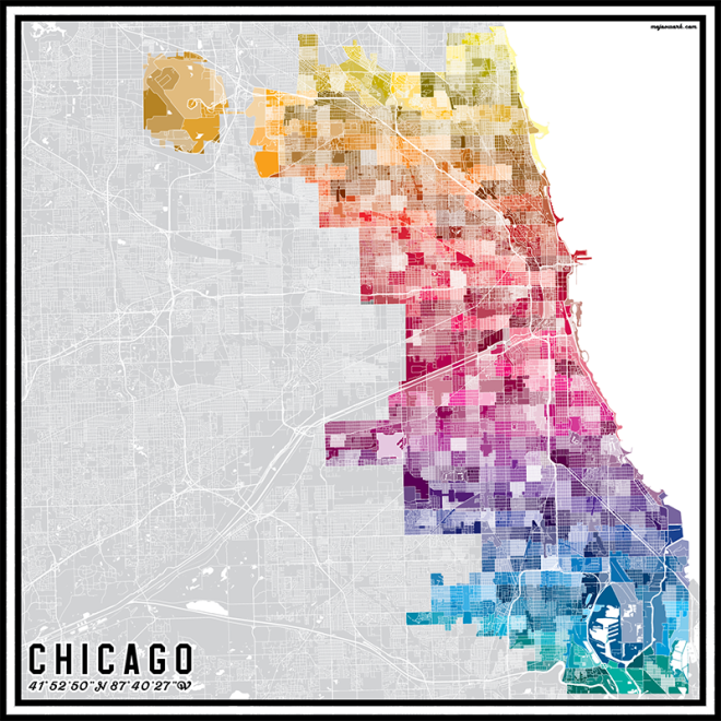 Chicago Pantone Map